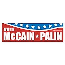 McCain-Palin Patriotic Bumper Bumper Sticker