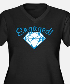 Engaged Women's Plus Size V-Neck Dark T-Shirt