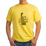 Delaware State Cornhole Champ Yellow T-Shirt