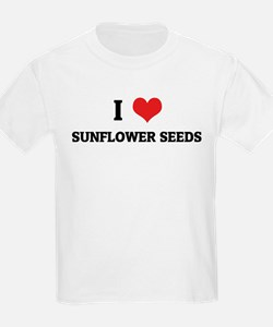 I Love Sunflower Seeds Kids T-Shirt