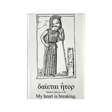 Mourning Athena Quote Rectangle Magnet