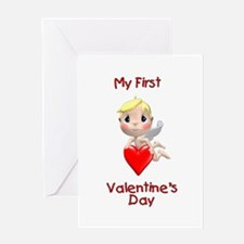 My First Valentines day (angel) Greeting Card
