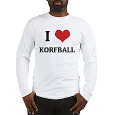 I Love Korfball Long Sleeve T-Shirt