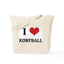 I Love Korfball Tote Bag
