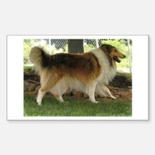 Lassie the Collie Rectangle Decal