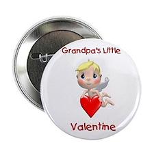 "Grandpa's Little Valentine (angel) 2.25"" Button"