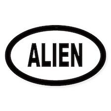 Alien Oval Decal