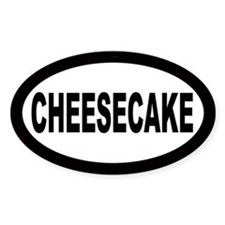 Cheesecake Oval Decal