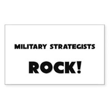 Military Strategists ROCK Rectangle Decal