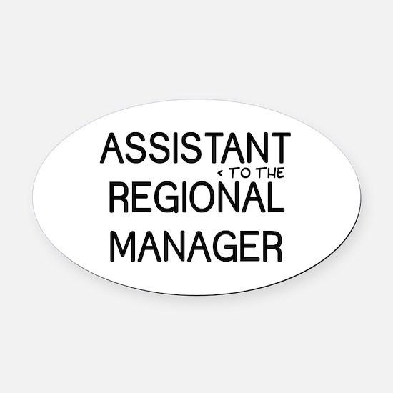 Assistant Manager Oval Car Magnet
