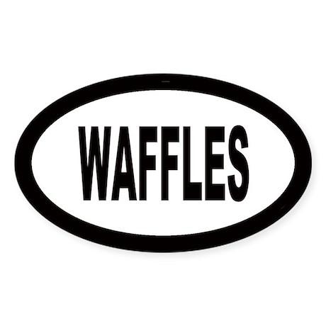 Waffles Oval Sticker