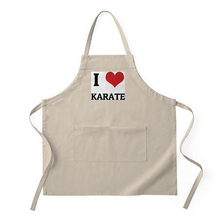 I Love Karate BBQ Apron
