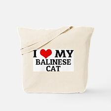 I Love My Balinese Cat Tote Bag