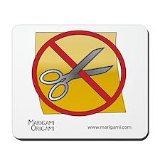 Origami No Scissors Mousepad