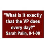 Sarah Palin, Wondering Postcards (8 pk)