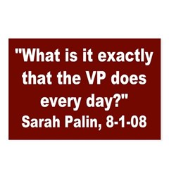 Sarah Palin, Wondering Postcards (8 pk)