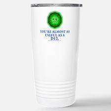 Useless as a D12 (Green) Travel Mug