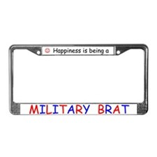 Unique Military brat License Plate Frame