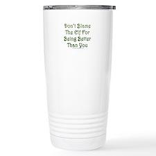 Don't blame the elf Travel Mug