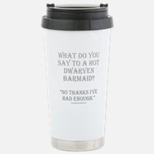 Dwarven Barmaid Stainless Steel Travel Mug