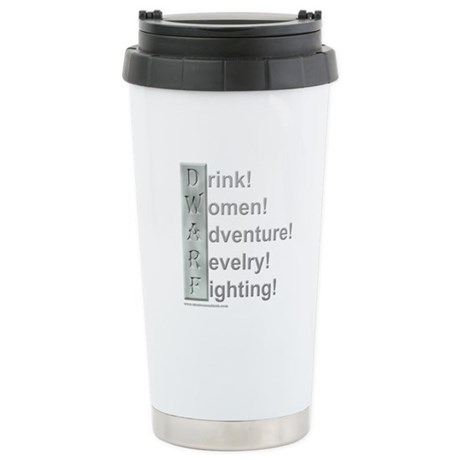 D.W.A.R.F. (Pro) Stainless Steel Travel Mug