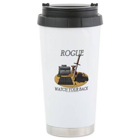 Rogue - Watch Your Back Stainless Steel Travel Mug