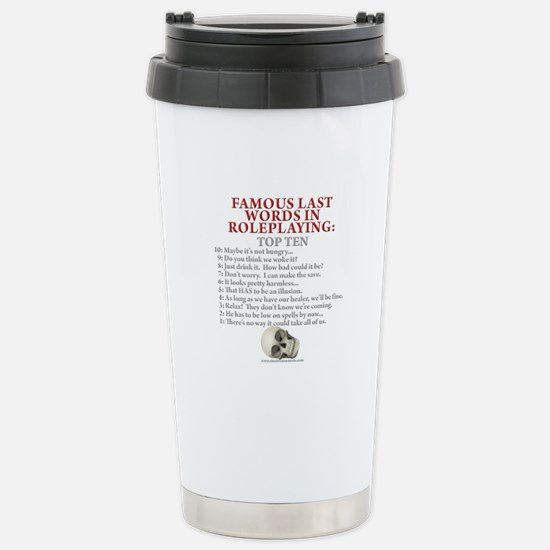 Last Words Stainless Steel Travel Mug
