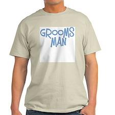 Hipster Groomsman: Blue Ash Grey T-Shirt