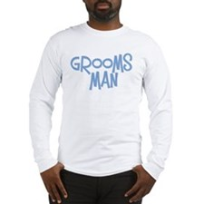 Hipster Groomsman: Blue Long Sleeve T-Shirt