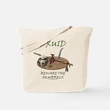 Druid - Beware the Squirrels Tote Bag