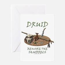 Druid - Beware the Squirrels Greeting Card