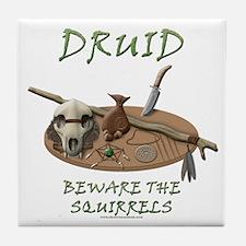 Druid - Beware the Squirrels Tile Coaster