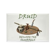Druid - Beware the Squirrels Rectangle Magnet