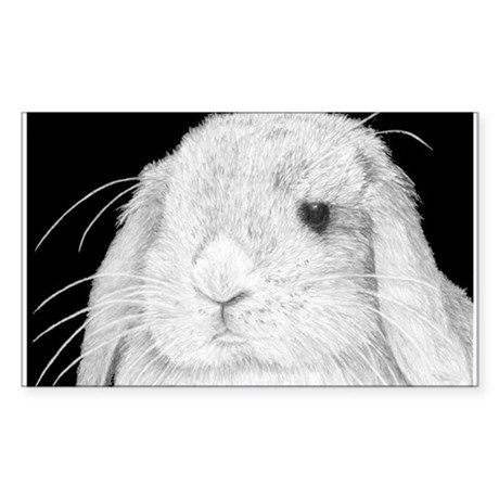 Lop Rabbit Rectangle Sticker