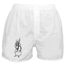 Upright Bass Skeleton Boxer Shorts