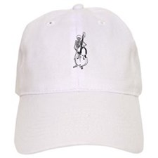 Upright Bass Skeleton Baseball Cap