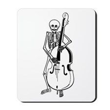 Upright Bass Skeleton Mousepad