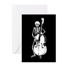 Upright Bass Skeleton Greeting Cards (Pk of 20)