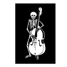 Upright Bass Skeleton Postcards (Package of 8)