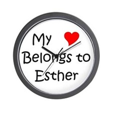 Funny Esther Wall Clock