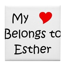 Cute Esther Tile Coaster