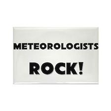 Meteorologists ROCK Rectangle Magnet