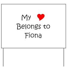 Fiona Yard Sign