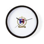 MELANSON2 Family Crest Wall Clock