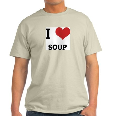 I Love Soup Ash Grey T-Shirt