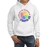 Proud of Obama Vote Hooded Sweatshirt