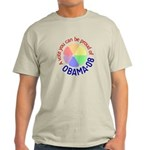 Proud of Obama Vote Light T-Shirt