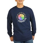 Proud of Obama Vote Long Sleeve Dark T-Shirt
