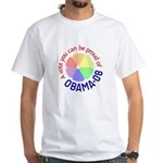 Proud of Obama Vote White T-Shirt