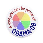 "Proud of Obama Vote 3.5"" Button"